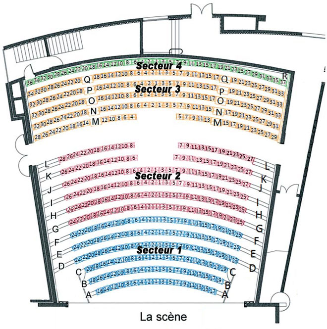 Plan de l'auditorium